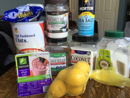 Lemon Bar Ingredients