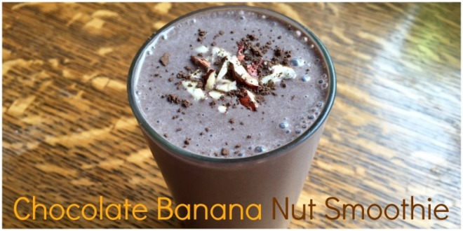 choco banana nut smoothie