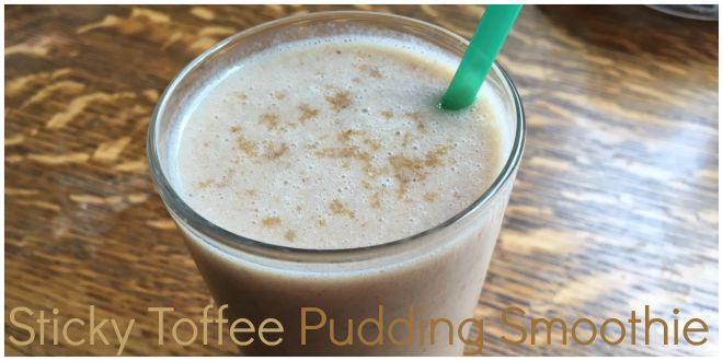 Sticky Toffee Smoothie Header